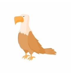 Bald eagle icon in cartoon style vector image