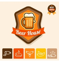 Beer house emblem vector