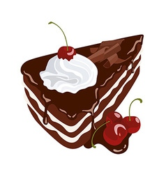 Black Forest Cake vector image vector image