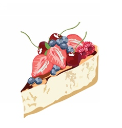 Cheesecake dessert delicious slice vector