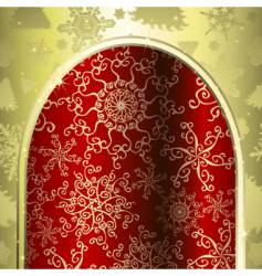 Christmas archway vector image