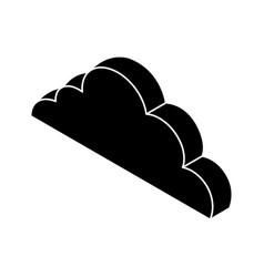 Cloud computing isometric icon vector
