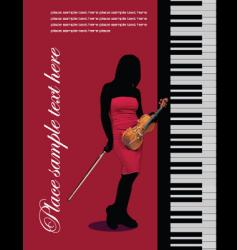 cover for brochure with piano vector image vector image