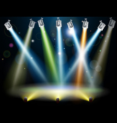 Dance floor or stage lights vector