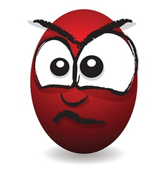 emotions eggs coloured angry vector image vector image