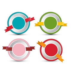 Empty Label Set Retro Circle Tags Isolated on vector image vector image