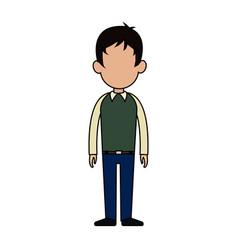 Faceless man cartoon icon image vector