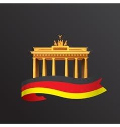 Flat icon of german brandenburg gate in vector