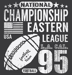 Football sport typography t-shirt Printing design vector image vector image