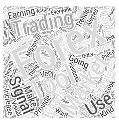Forex trading signal word cloud concept vector