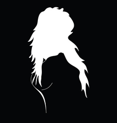 girl black and white silhouette vector image vector image