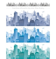 Horizontal cityscape with airplanes abstract vector image