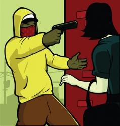 mugging vector image