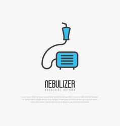 nebulizer thin line icon from asthma vector image vector image