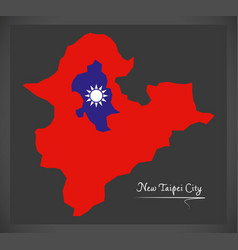 New taipei city taiwan map with taiwanese vector