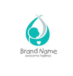 Newborn baby logo concept vector