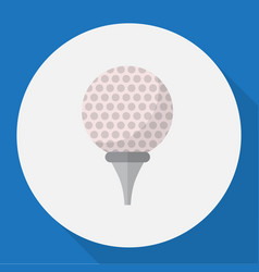 Of sport symbol on golf flat vector