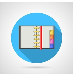 Opened ring notebook flat icon vector image