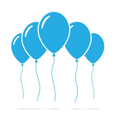 Set of blue balloons vector