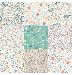 Set of flower patterns vector