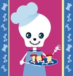Skull boy chef vector