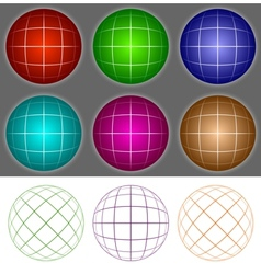 Voluminous balls vector image vector image