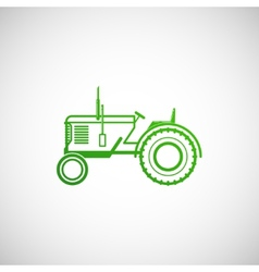 with tractor farm concept vector image vector image