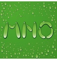 Water drop letters on green background 5 vector