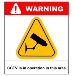 Cctv in operation sign - format vector