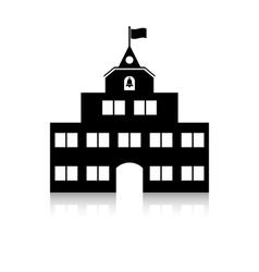 schoolhouse vector image