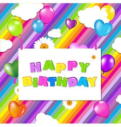 Colorful birthday design vector