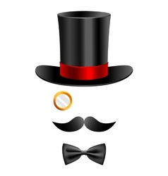Gentleman set 2 vector image