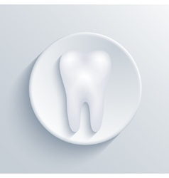 Modern tooth light circle icon vector