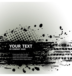 Tire track background with text vector