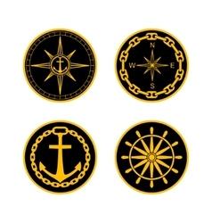 Naval badges vector