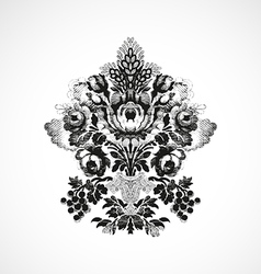 Richly decorated with a bouquet of flowers vector