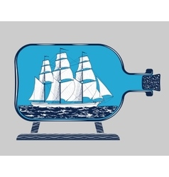 Bottle ship 1 vector