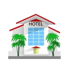 Hotel building  travel and vector