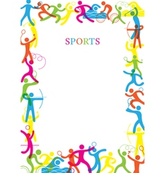 Sports Colorful Frame vector image