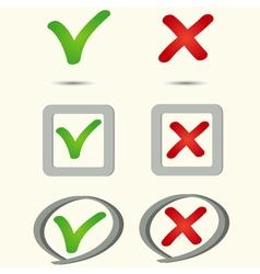 Yes no symbol icon vector