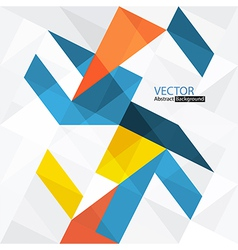 Abstract triangles with copyspace vector