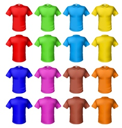 bright colored shirts vector image