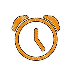 clock alarm pictogram vector image