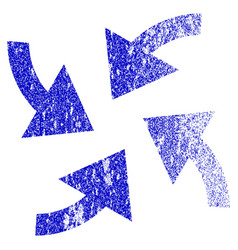 Cyclone arrows grunge textured icon vector