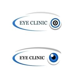 Eye clinic sign vector