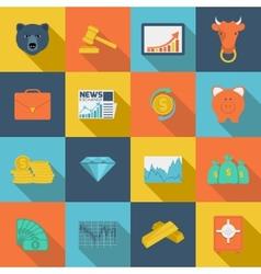 Finance exchange flat icons vector image vector image