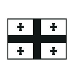 Flag of georgia monochrome on white background vector