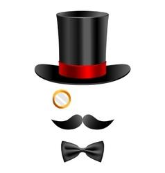 Gentleman set 2 vector image