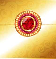 Golden rakhi design vector