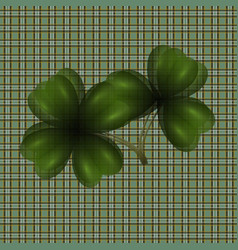 Image of leaf clover translucent background in vector
